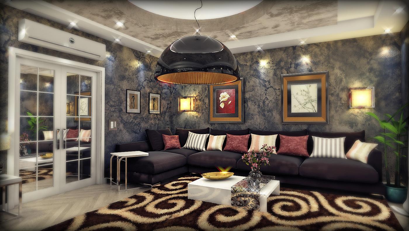 精緻的20個客廳主牆顏色欣賞