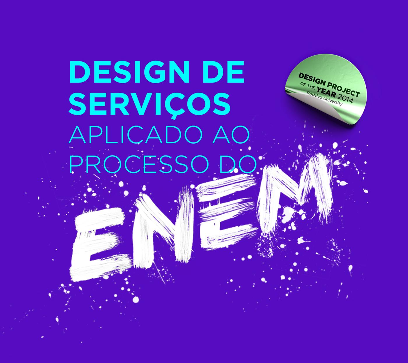 Enem Service design ux design de serviços Case Study cocreation