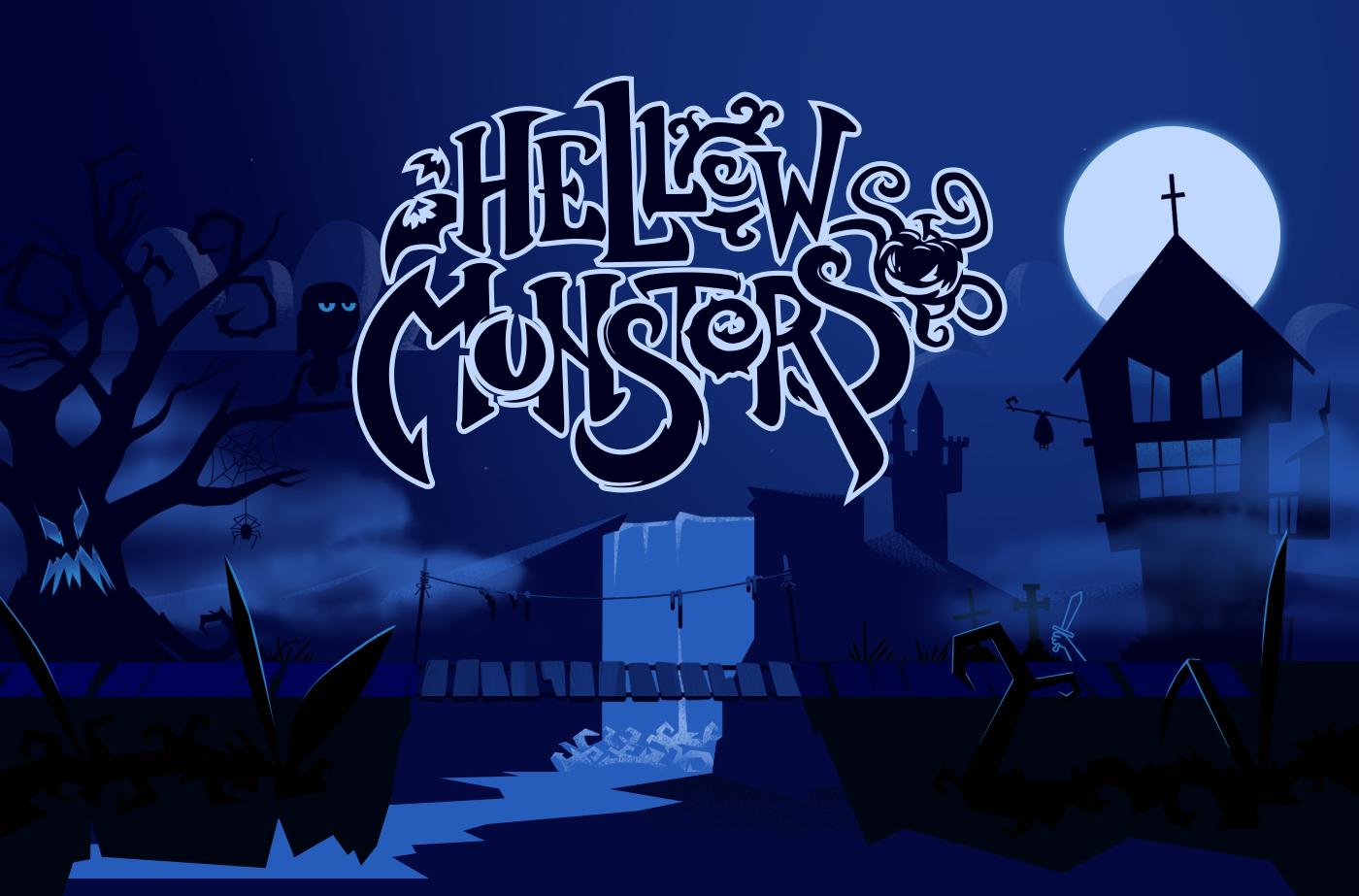 animation  cartoon Character Digital Art  doodle graphic design  Halloween ILLUSTRATION  monster Behance