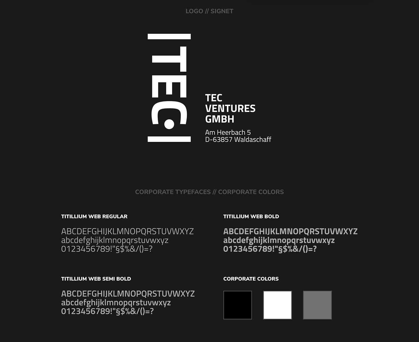 TEC VENTURES // Logo + Typeface
