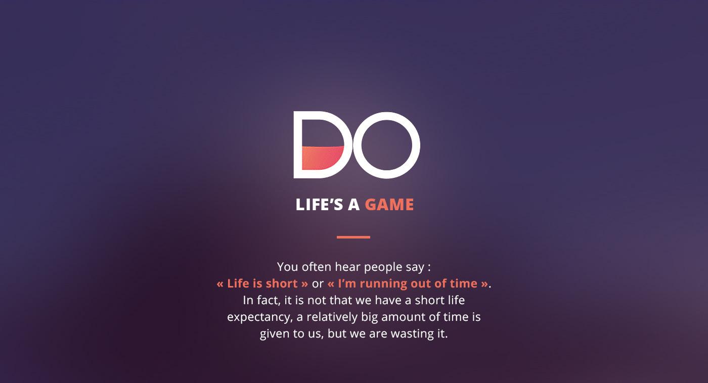 app do life Objectives move Achievements purple social interactive bucket-list to-do list motivation gif animated logo