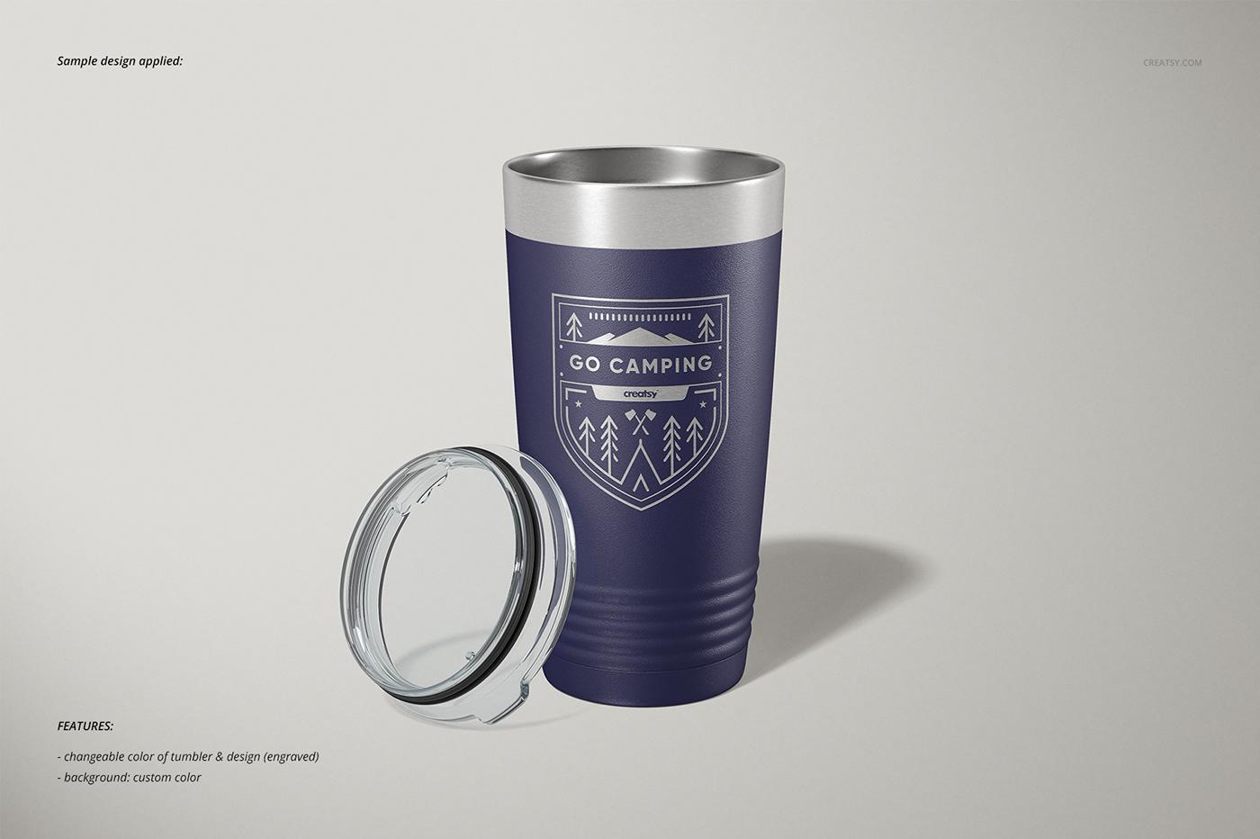 mock-up Mockup mockups template 20oz polar camel tumbler Stainless cup