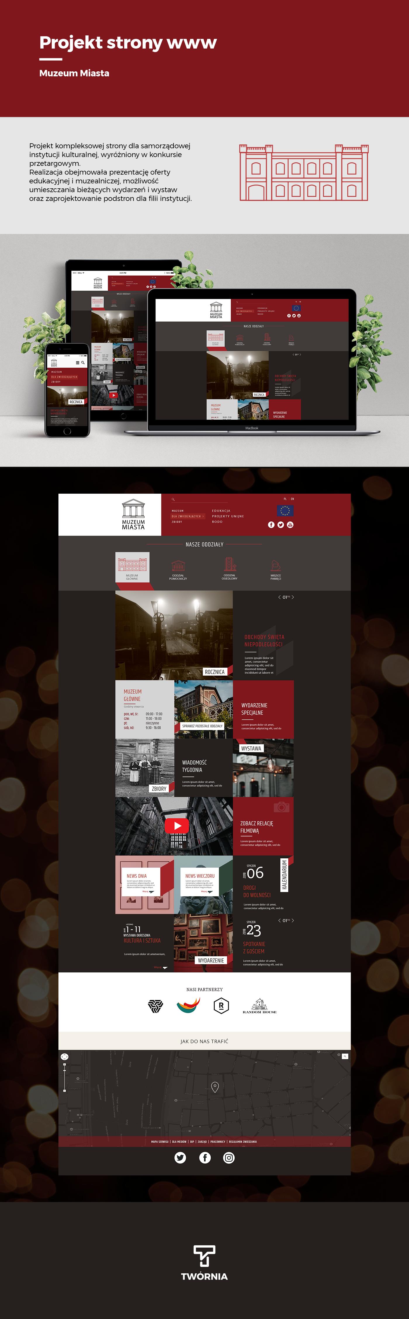 Webdesign www Strony Internetowe projektowanie stron Website site museum website project
