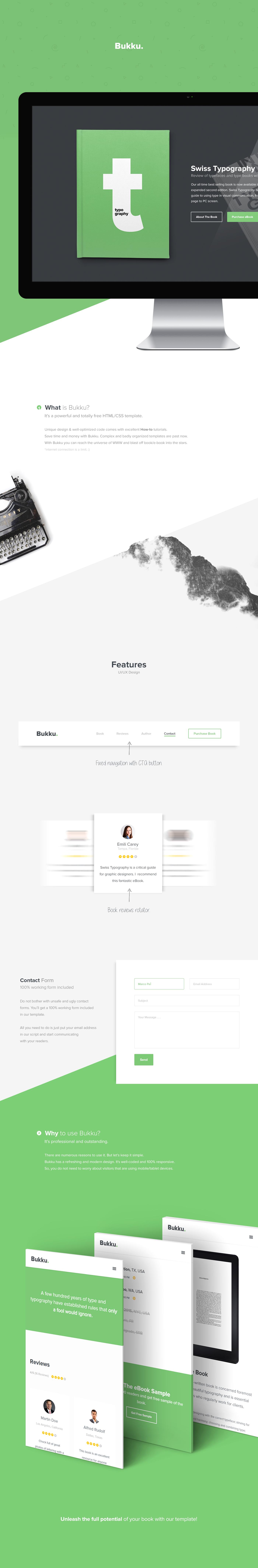 HTML css template free book ebook publishing   modern Responsive clean minimalistic creative agency freebie