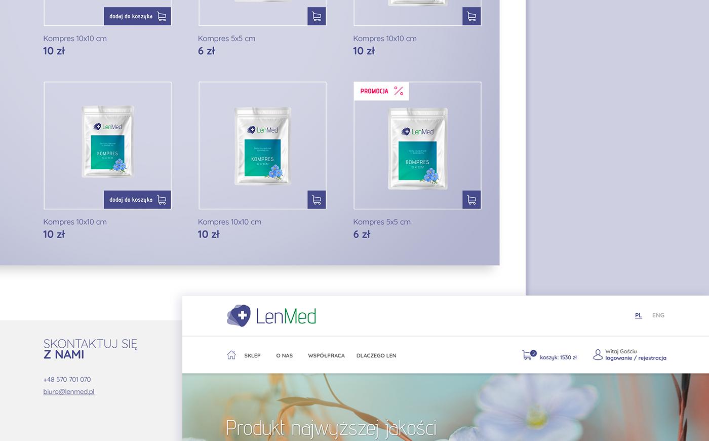branding  Webdesign lenmed Flax medical