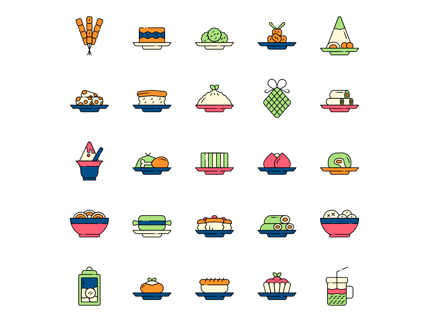freebie icon design  icons download icons pack icons set indonesia icon  Indonesian food nutrition vector vector design vector icon