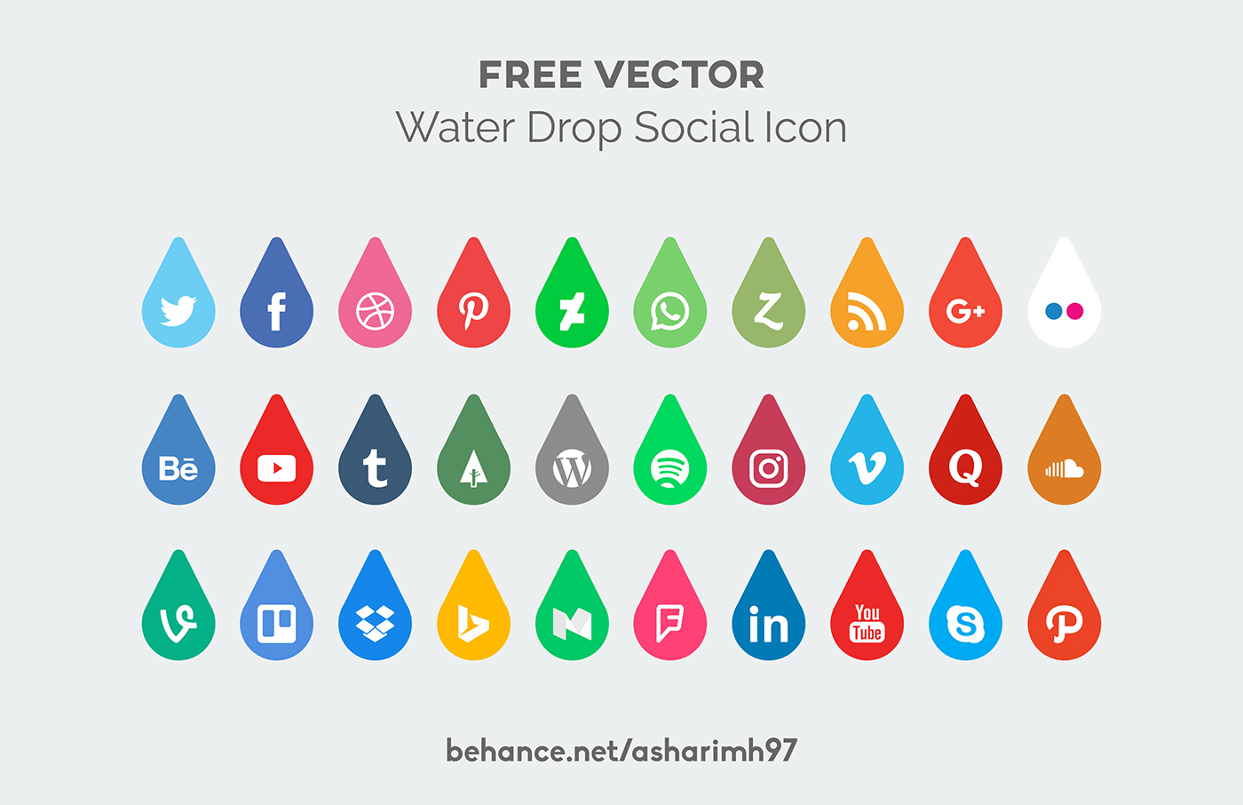 icon pack social media freebie hizbulloh design