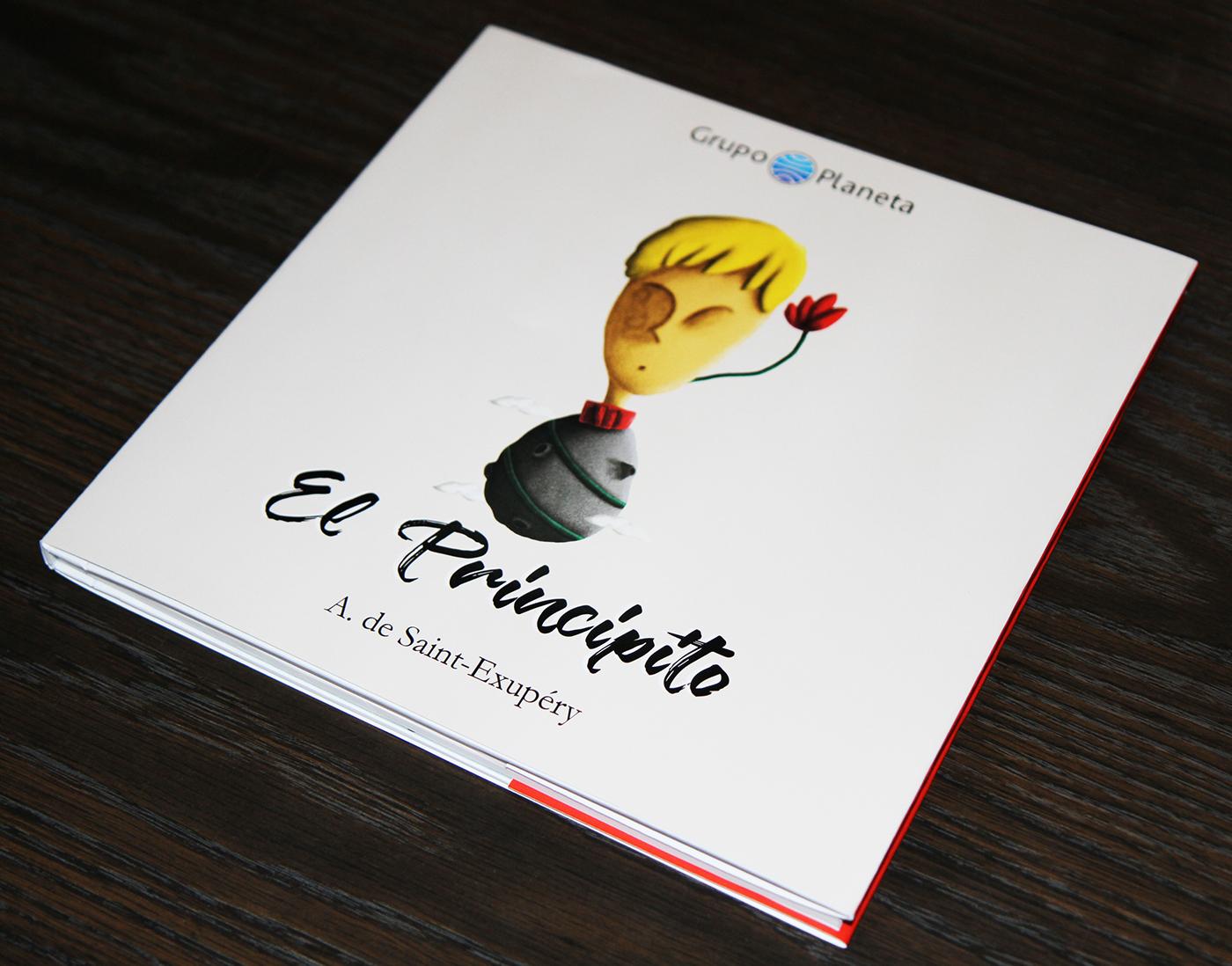 editorial design  ILLUSTRATION  el principito Le Petit Prince book COFFEE TABLE BOOK graphic design