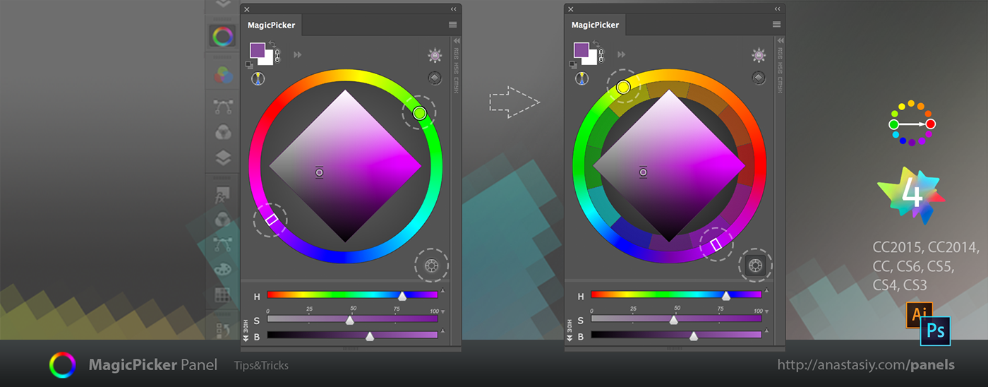 Tips Tricks 5 For Magicpicker Color Wheel Other Panels On Behance