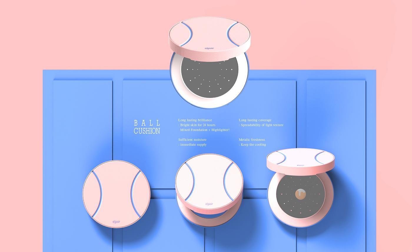 line tennis Cosmetic pink blue studentshow mascara shadow