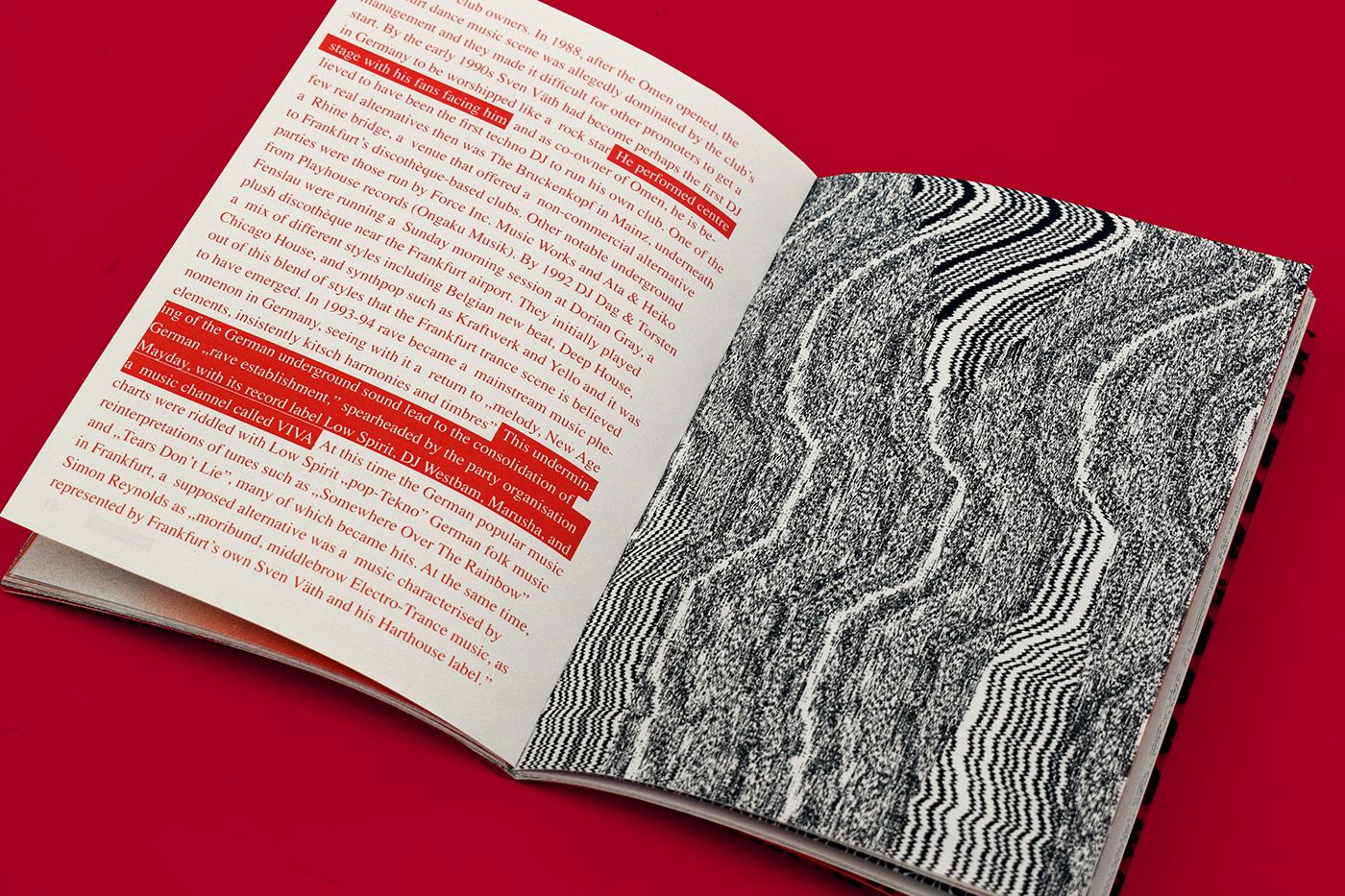 book foil Layout publication techno book design graphic design  Zine  music