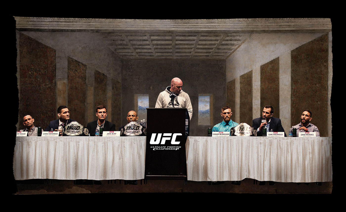 collage UFC MMA contemporary UFC ART Mixed martial arts Digital Collage figter themed art ufc fan art Photo Manipulation