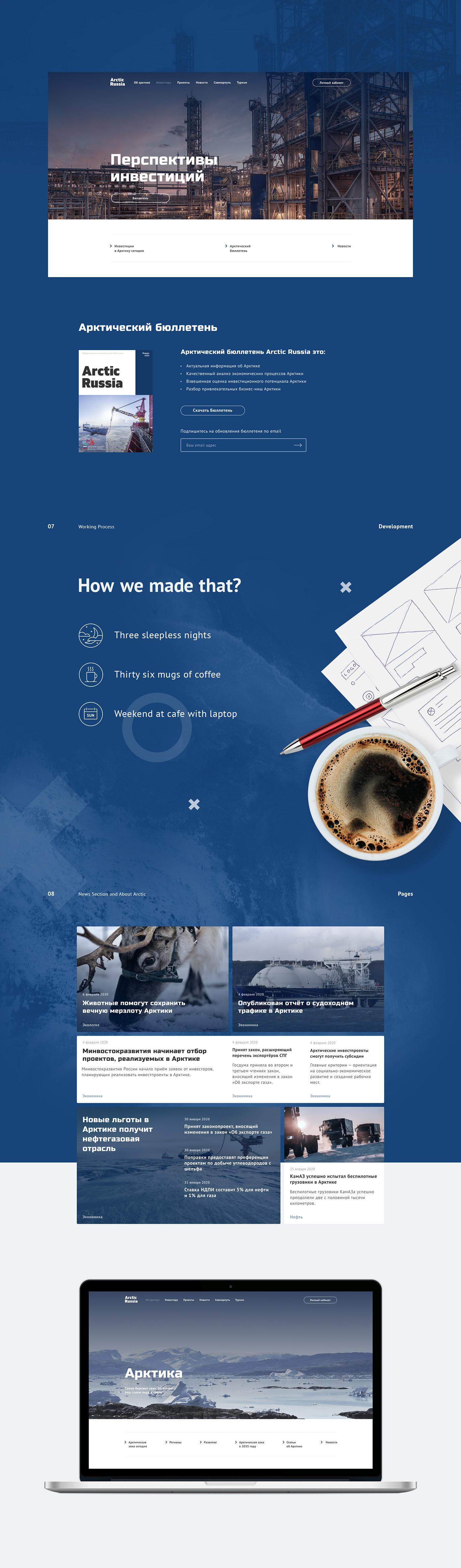 Arctic Interface photoshop Russia uiux Web Webdesign вебдизайн дизайн Арктика