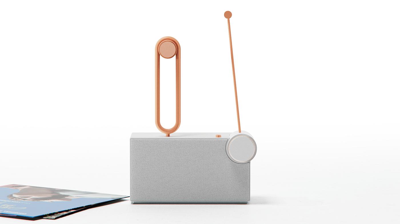 250design Audio button product design  speaker turntable