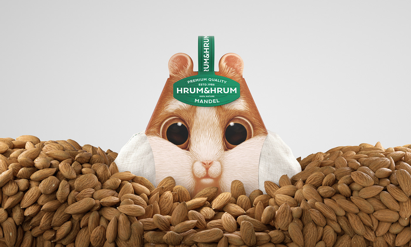 bolimond box design hamster mouse nuts Pack Packaging squirrel