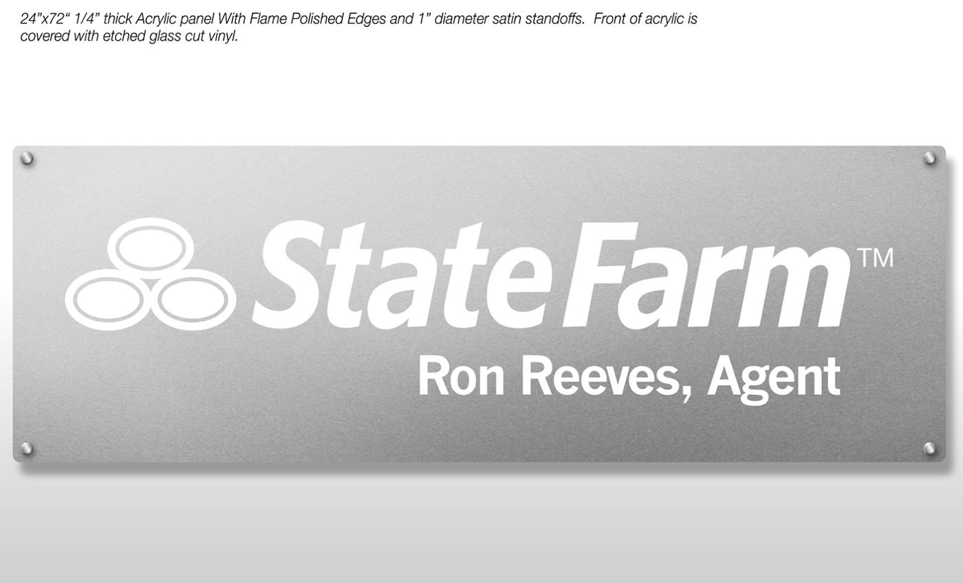 State Farm Insurance Interior Logo Sign Branding On Behance