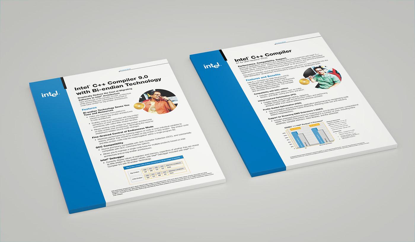 Intel Print Design on Behance