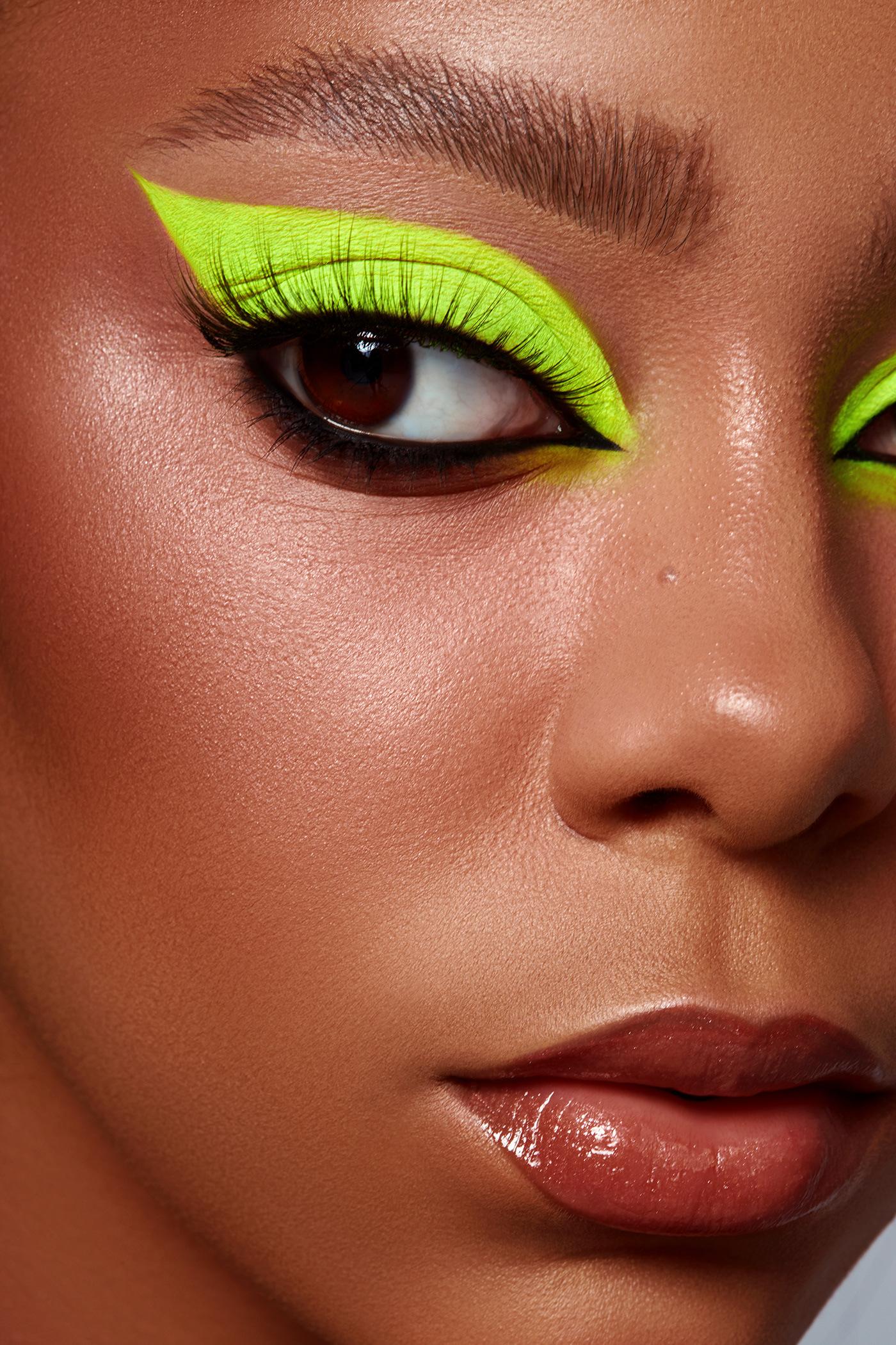 beauty beauty photography close up macro Make Up neon photoediting retouch retouching  visage
