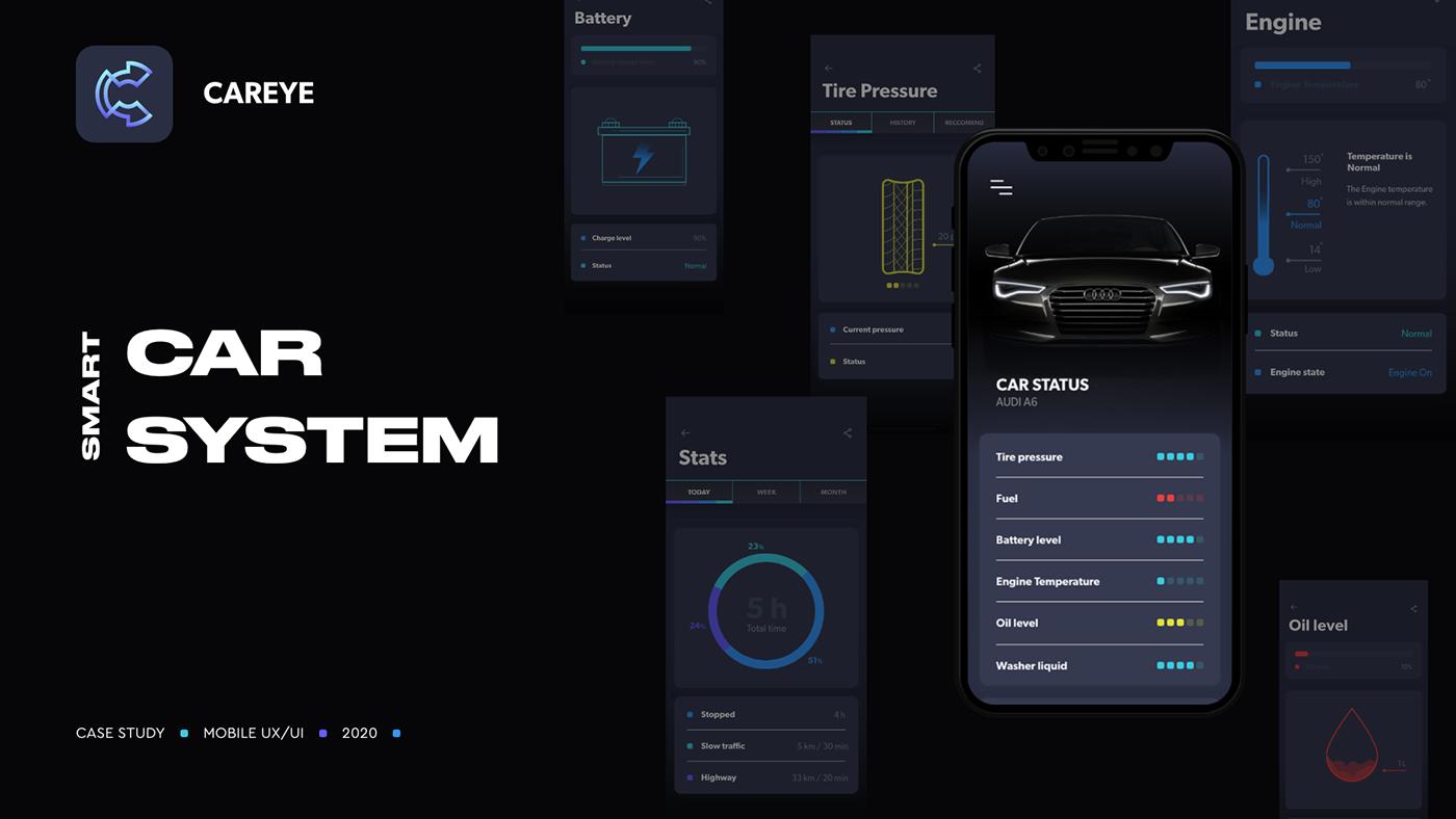 app,automotive  ,car,CaseStudy,design,IoT,mobile,Smartcar,UI,ux