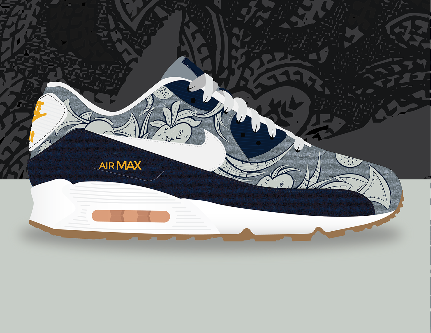 quality design e0622 7d10c ... low price nike air max 90 liberty on behance 8db08 7082a