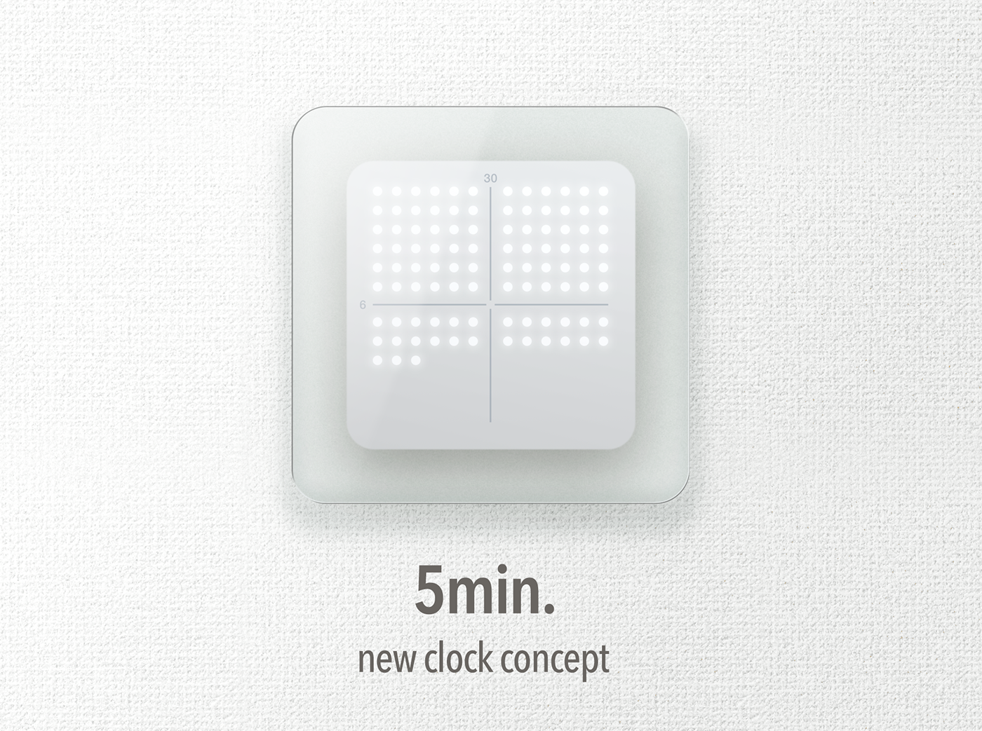 5min clock on behance