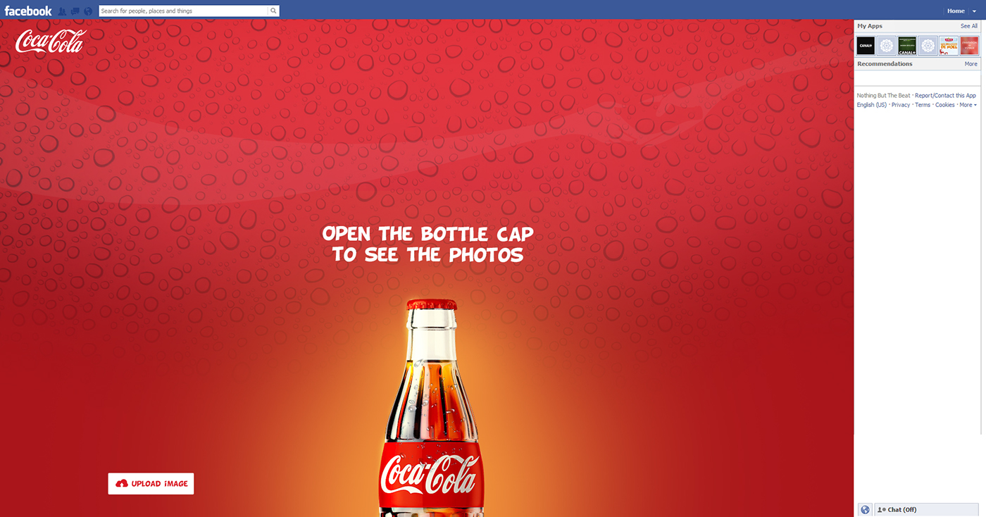 Coco Cola promotions for 50 millions fans in facebook on Behance