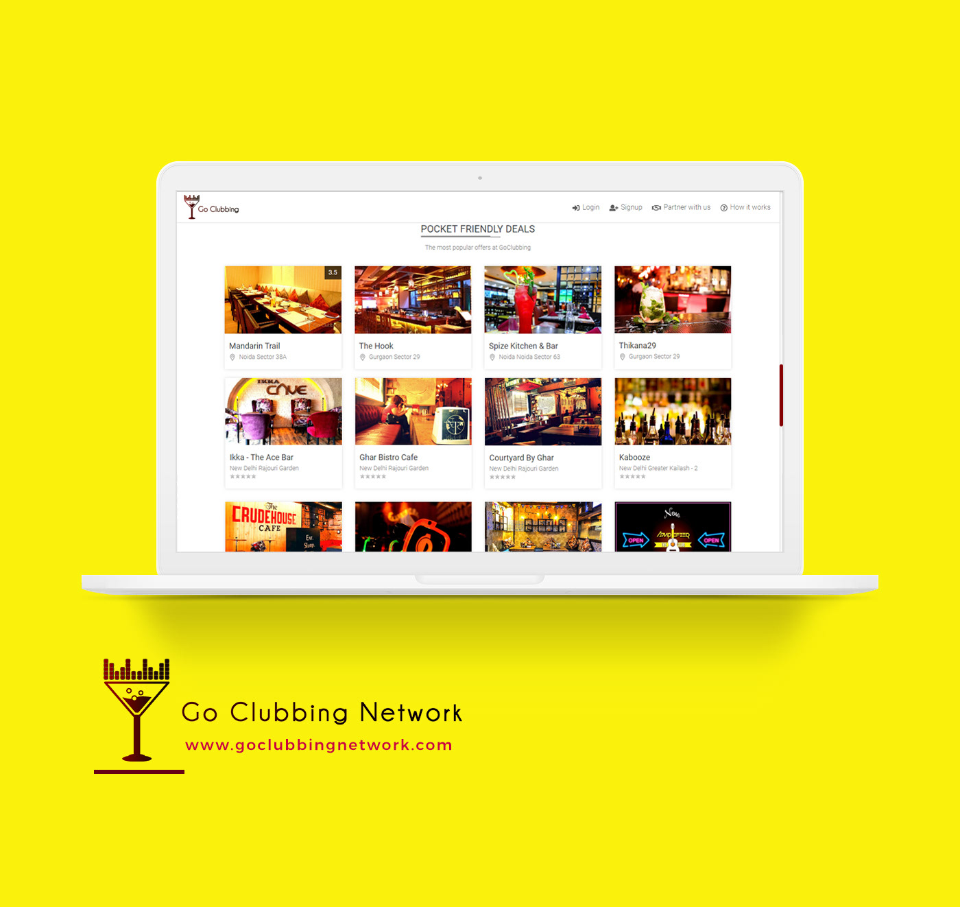 Go Clubbing is a website that inspires and enable people to make the most of a club pub or a bar. Currently operating in Delhi/NCR
