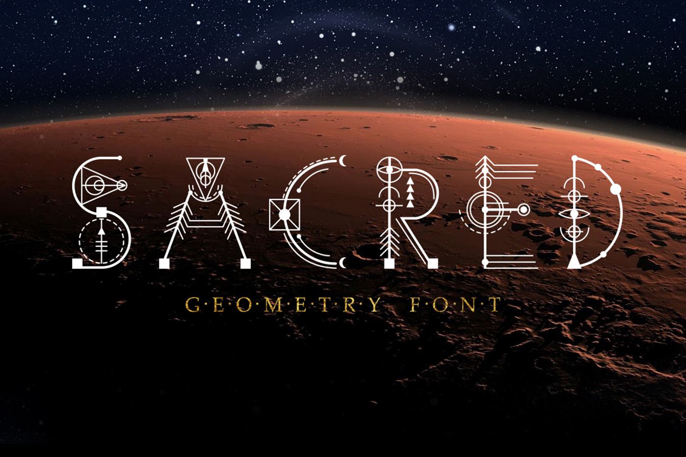 Sacred Geometry Font on Behance
