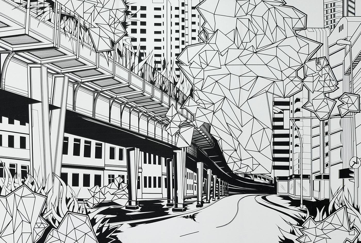klebebande Tapeart Urbanart streetart art klebekunst Exhibition