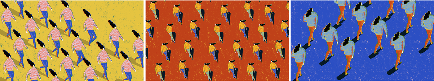 print psychedelic london illustration fair pattern characters Space