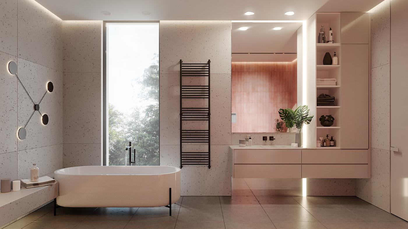 In the bathroom stock image. Image of bathe, beautiful