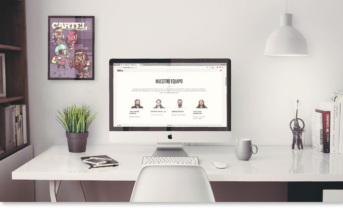 cartel media Cartel Urbano webpage cartel design front-end wordpress wireframes