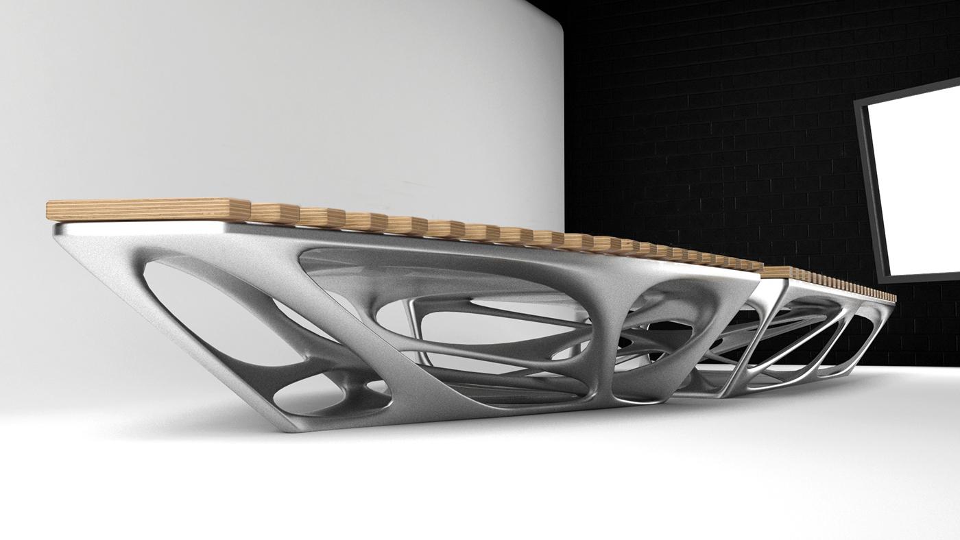 public furniture Computational Design bench architecture art design