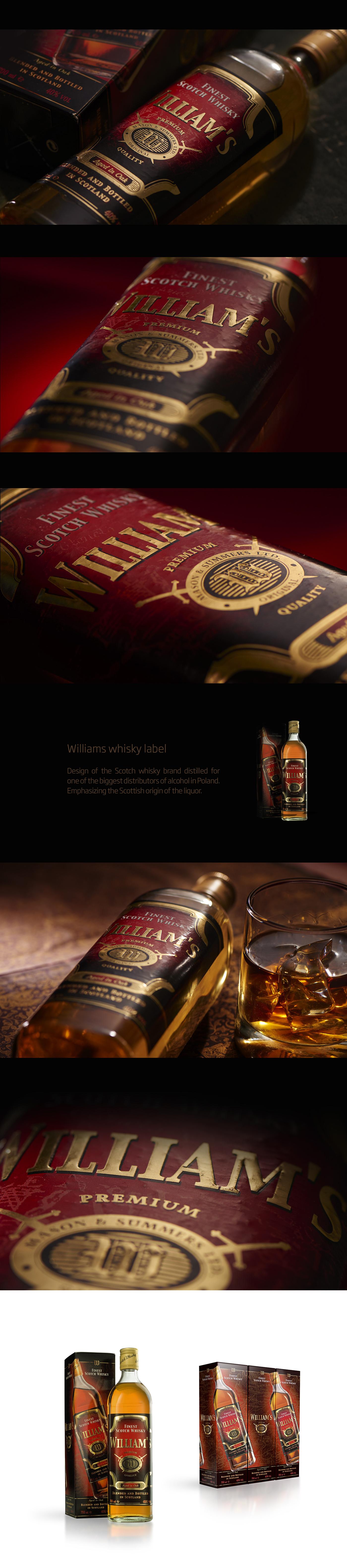Whisky scotch williams alcohol whisky label Whisky Brand Whiskey polish whisky
