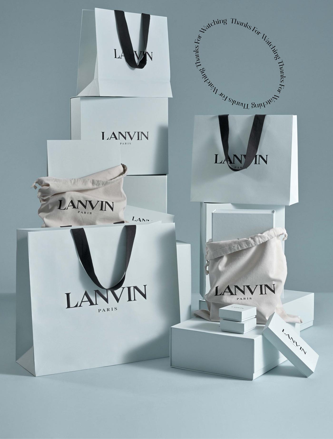 concept design Fashion  landing page LANVIN ui design Web Design