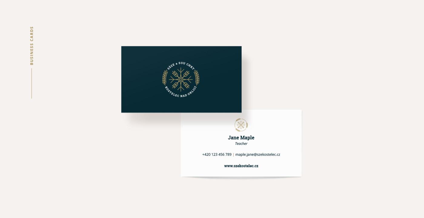 high school indentity design - business card