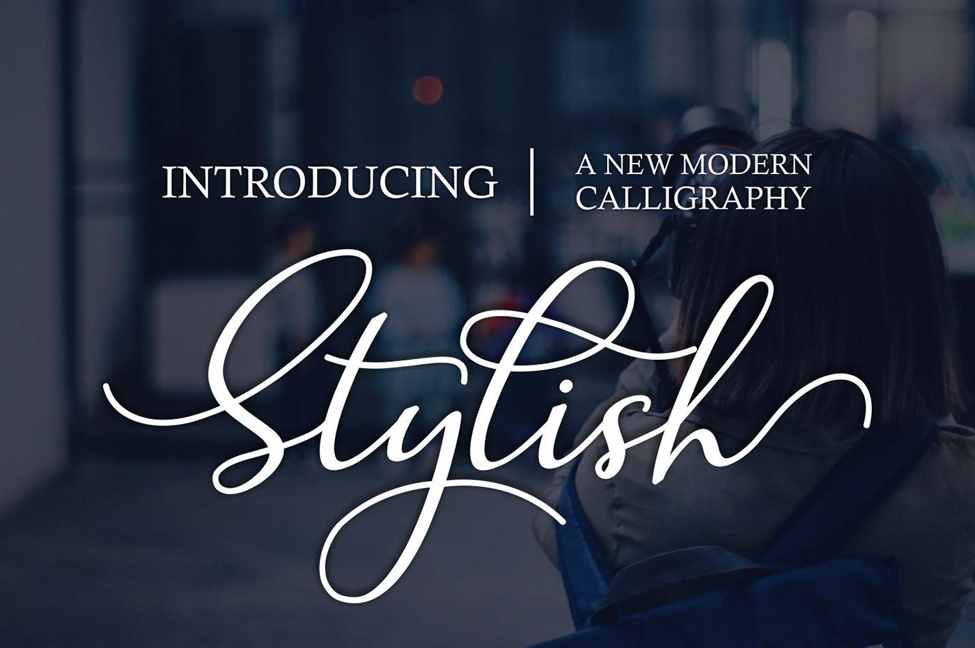 stylish Script font Calligraphy   wedding branding