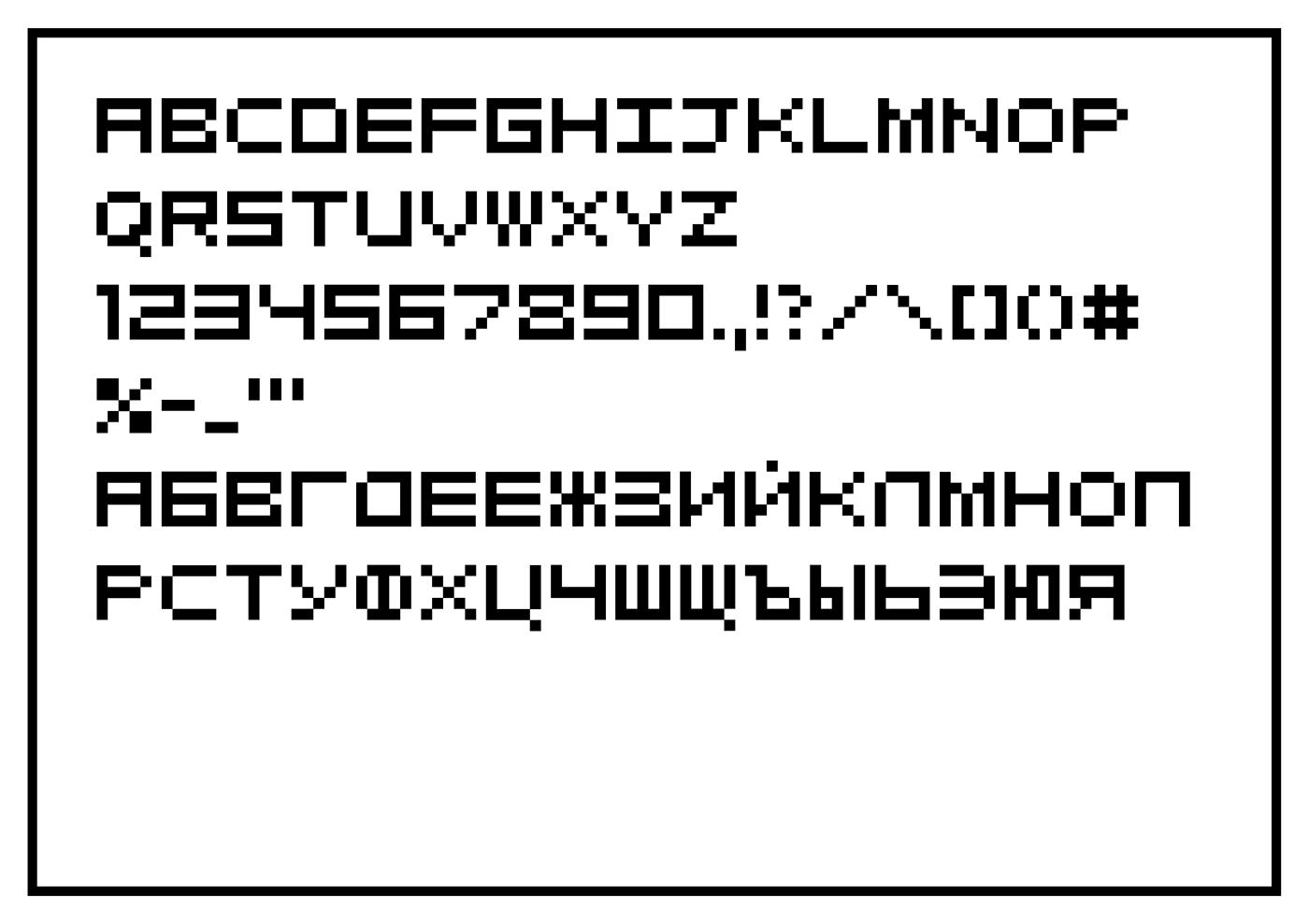 free Cyrillic pixel font design geometry
