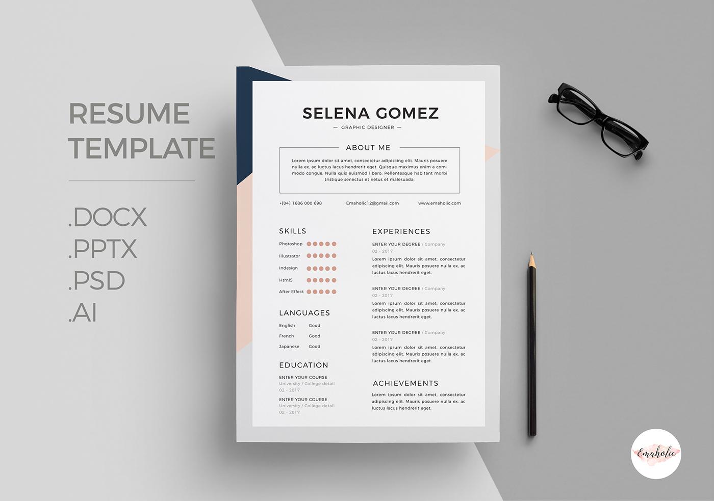 有創意感的23張履歷表設計欣賞