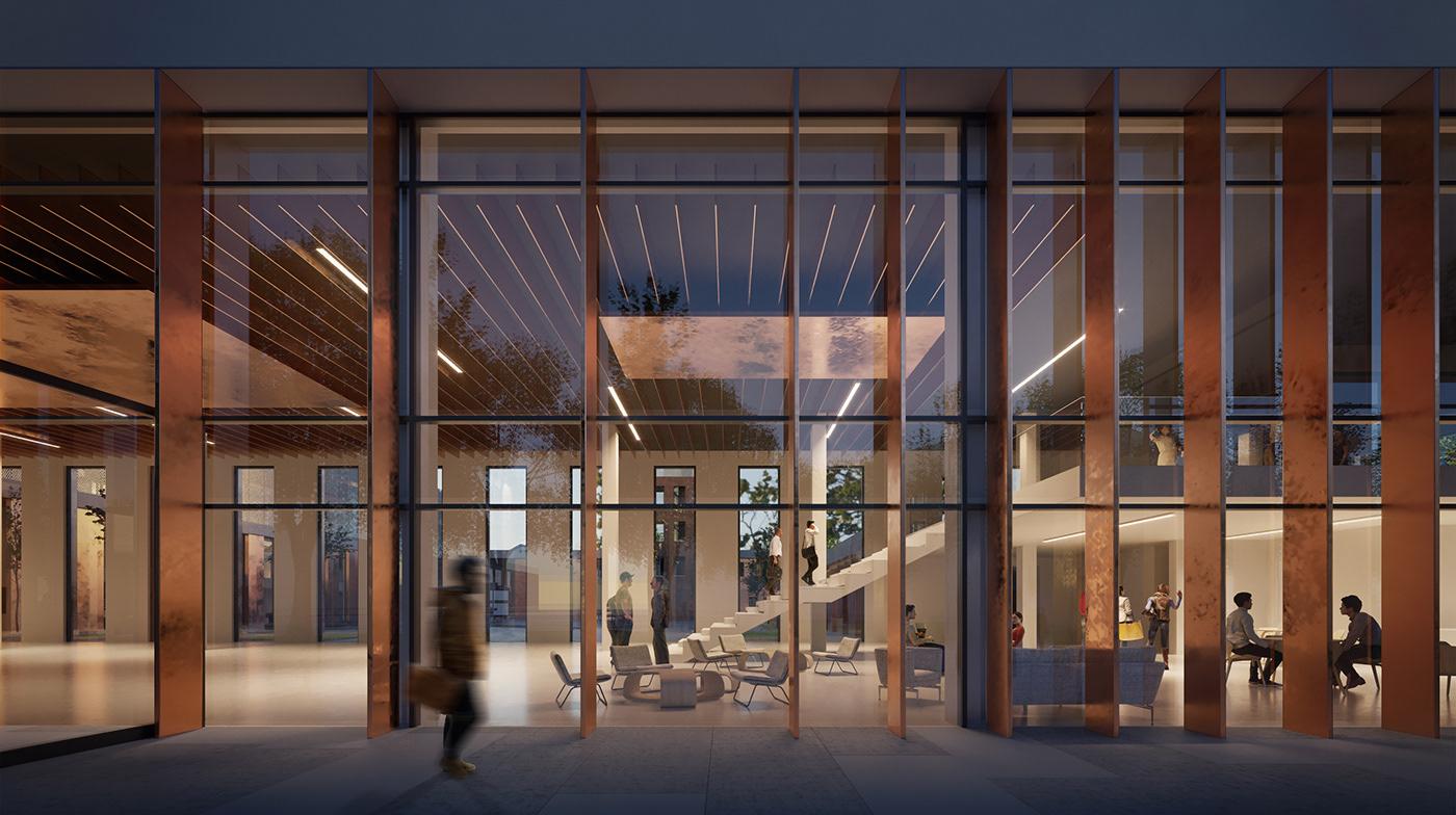 architecture architecturecompetition atrium campus firestation Park tower University exterior Interior