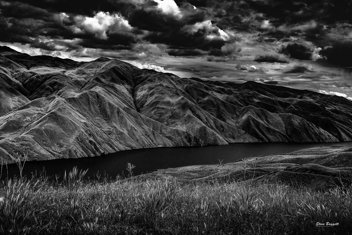brownie reservoir monochrome Snake River
