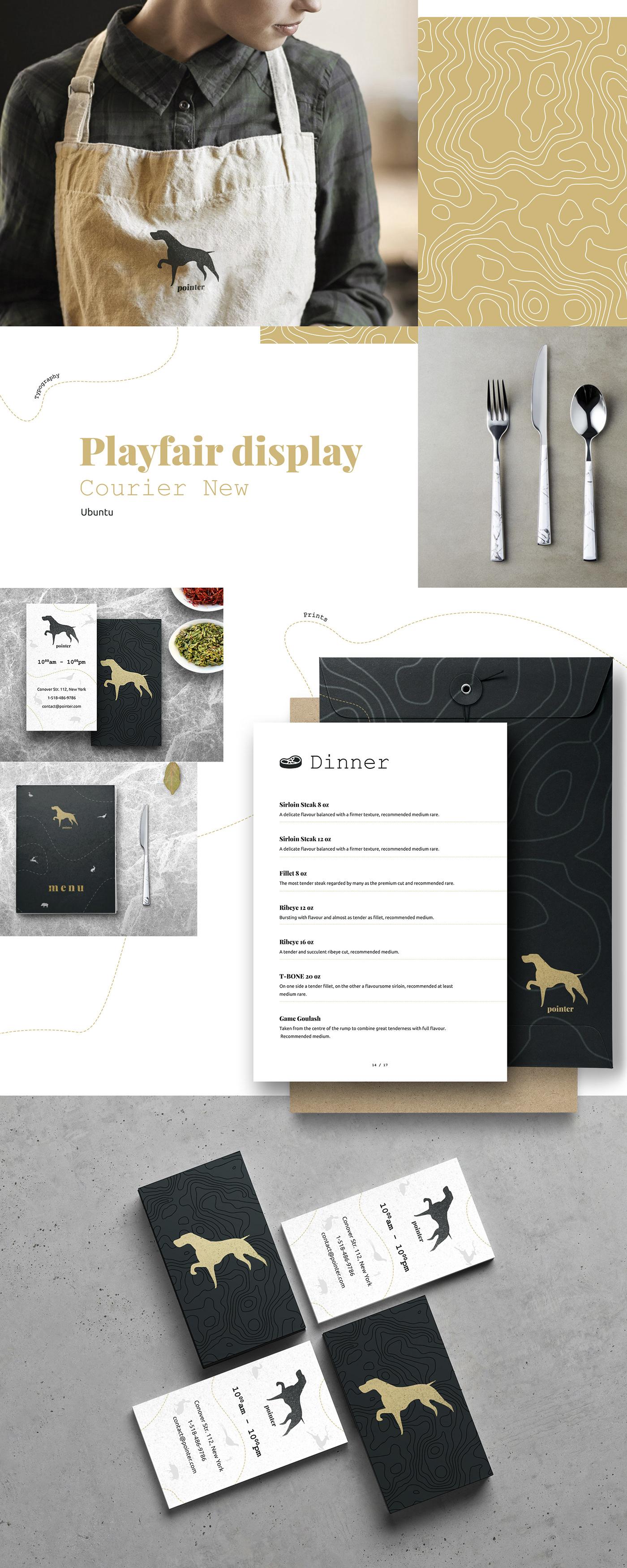 restaurant branding  Hunting Webdesign logo dog Pointer