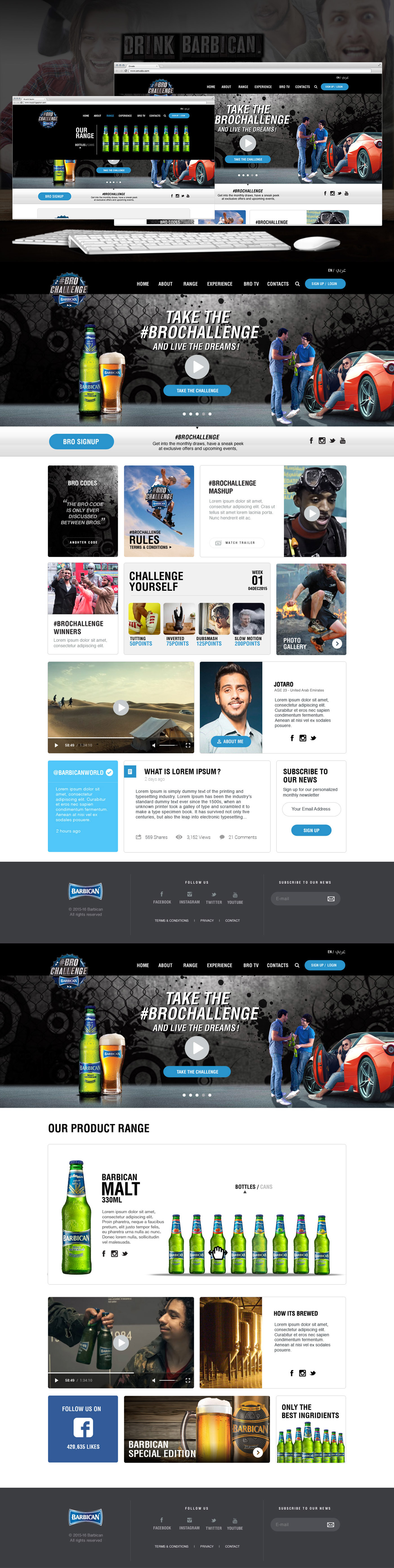 barbicanworld brochallenge barbicancampaign barbicanwebsite facetoface uae_website azizdesigner abdulazizportfolio