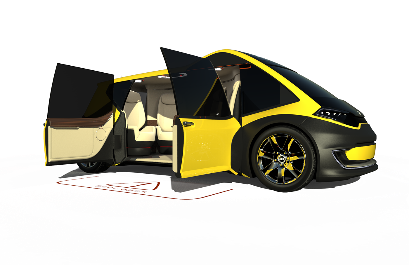 kia taxi Alias ketshot 3D 3dmodeling