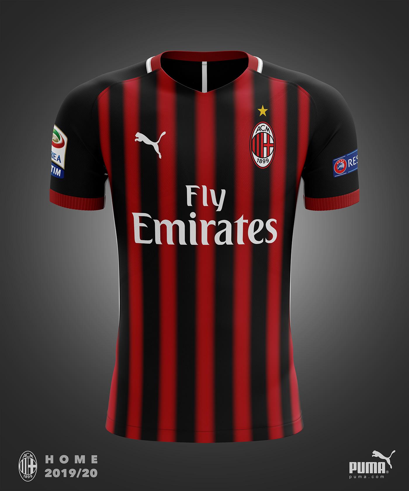huge discount ca844 86d69 AC Milan Puma Concept Kit 2019/20 on Behance