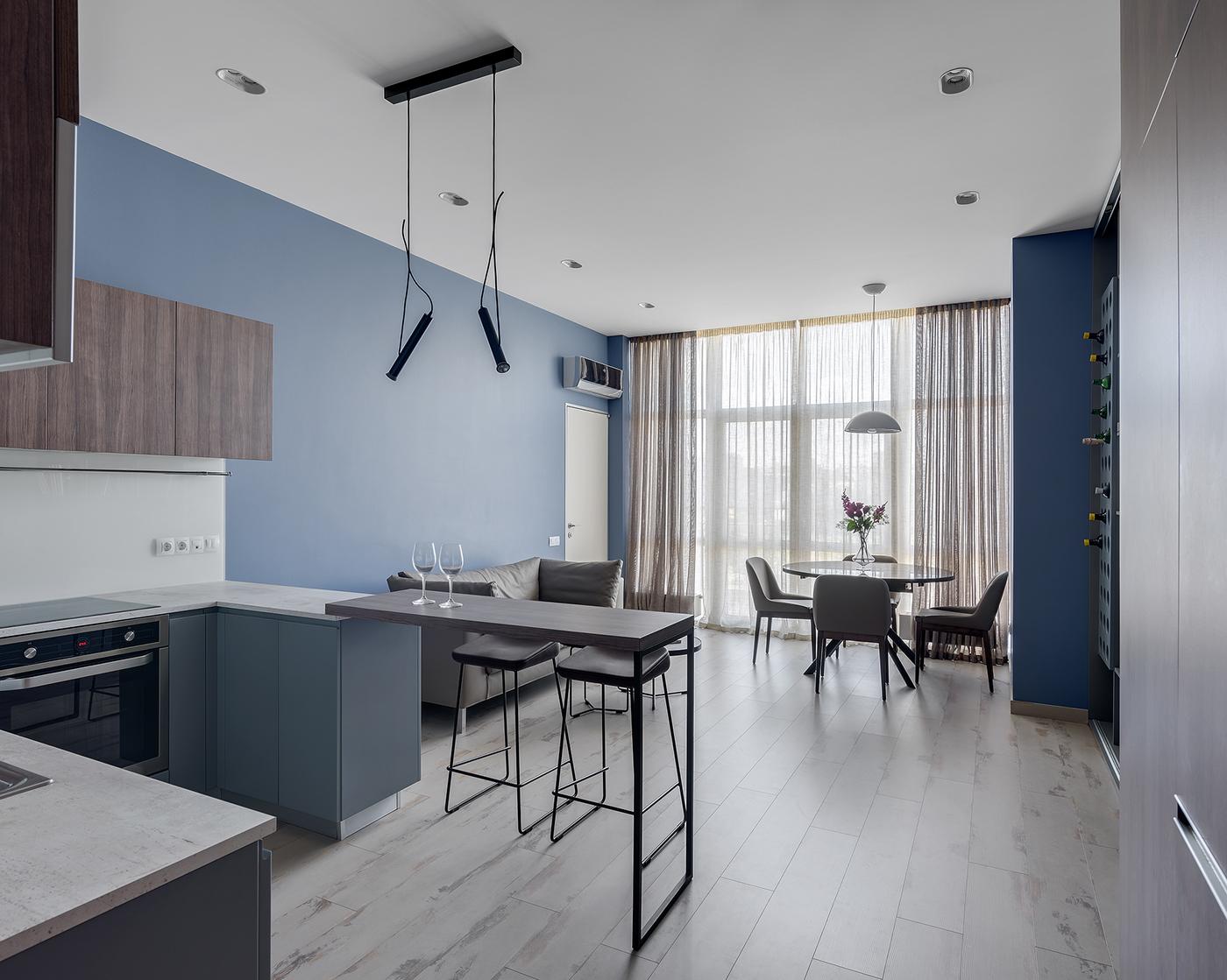 Single bedroom apartment on Behance