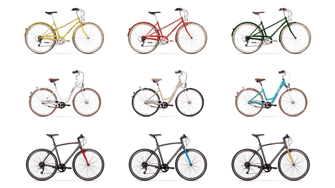 graphic design  Bike logo frame Retro city Urban colours
