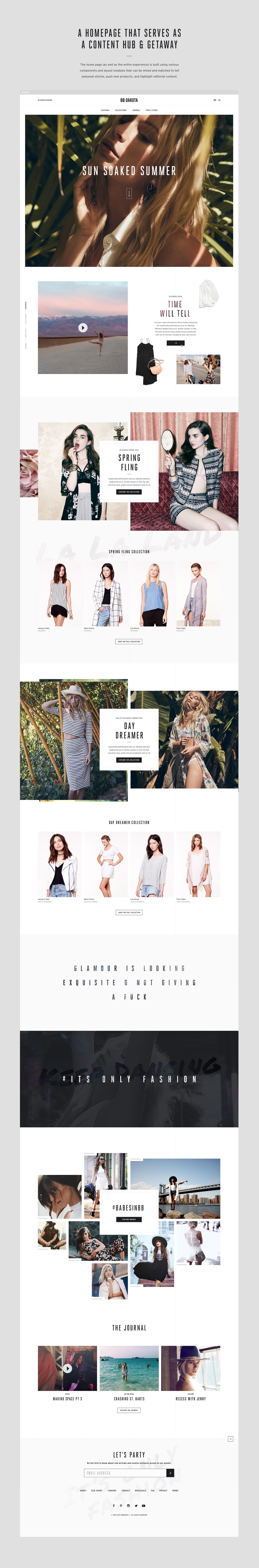 BB Dakota fashion ecommerce Ecommerce UI ux Website Design Clothing Womens Fashion