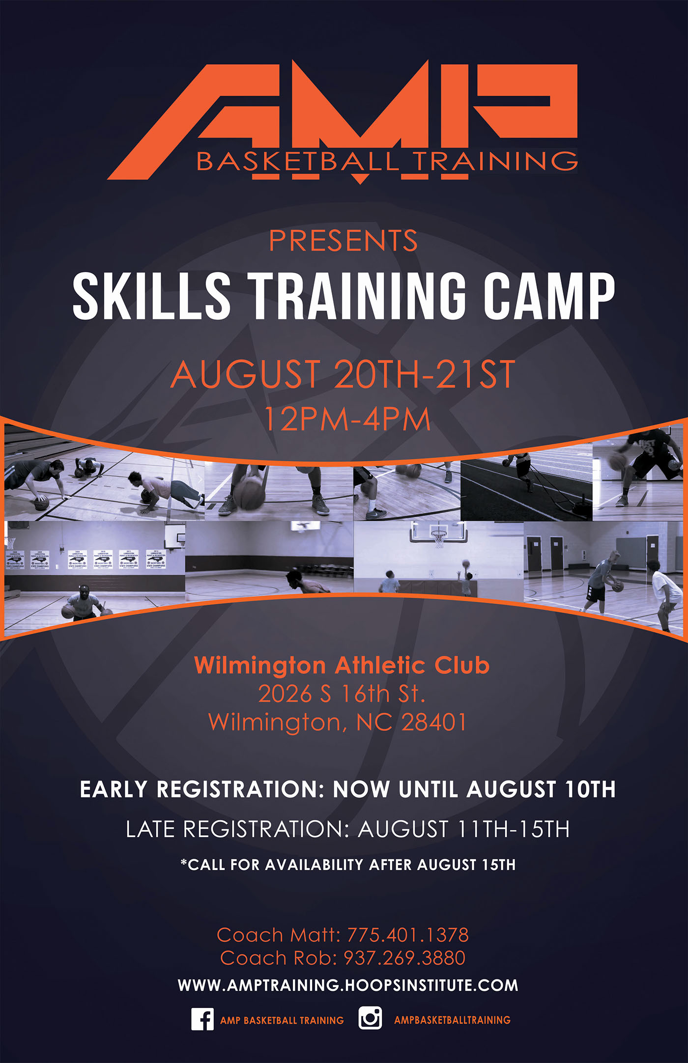 Amp basketball training camp postersocial media ad on behance thank you publicscrutiny Image collections