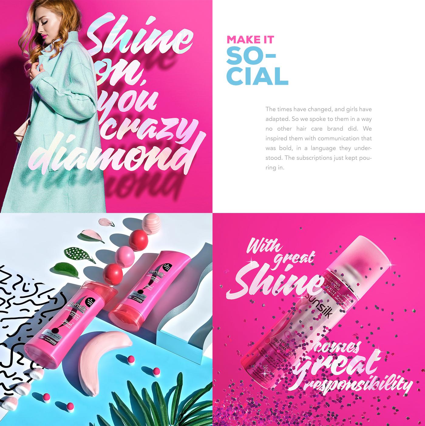 shooting Photography  still life pink Sunsilk arabia dubai social media instagram sedal